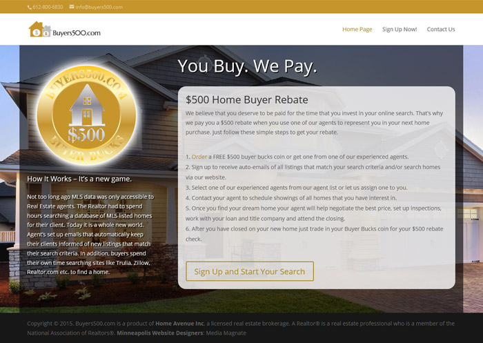 Buyers500 Homepage